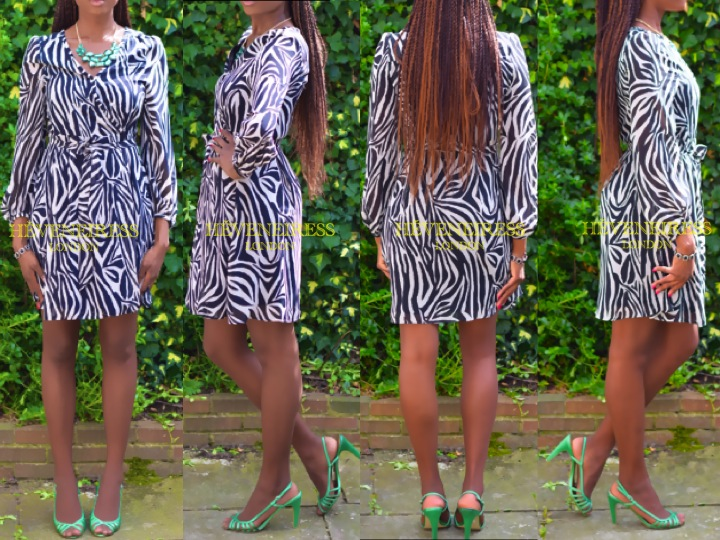 Zebra summer dress try