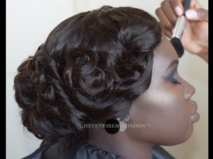 bridal hair in london - heveneiress london