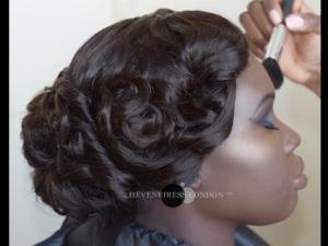 bridal hair in london - heveneiress london