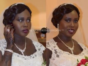 bridal makeup artists in london, bridal hair - heveneiress london