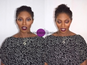 heveneiress london - bella naija - dark lips - mua -  makeup artists in london - best bridal makeup artists in london - reading - birmingham - oxford - makeovers - weddings