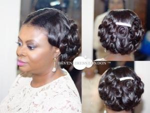 heveneiress london - top london makeup artists  - linda ikeji - nigerian weddings - bridal hair london - glamorous makeup - occ lip tar - necklaces - coral beads - traditional weddings - london makeup artists