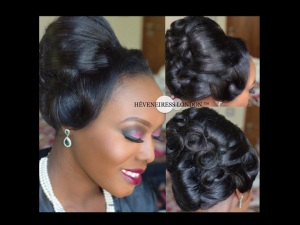 heveneiress london - top london makeup artists  - linda ikeji - nigerian weddings - bridal hair london - glamorous makeup - occ lip tar - necklaces - coral beads - traditional weddings - london makeup artists