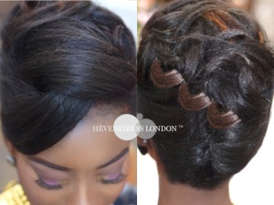 heveneiress london - hair stylists in london - bridal makeup artists in london - top UK nakeup artists - black hair - natural hair - london stylist
